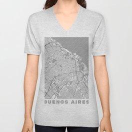 Buenos Aires Map Line Unisex V-Neck