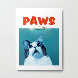 paws cat Metal Print