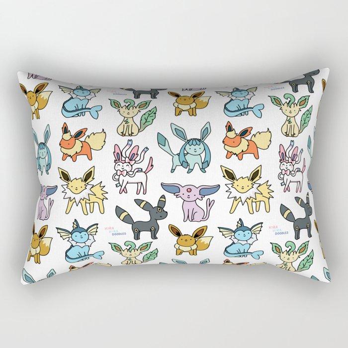 Eeeveelution Doodle Rectangular Pillow