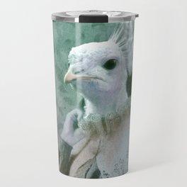 White Peacock Travel Mug