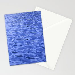 Rhythmic Blue Water Ripples In A Steady Wind Stationery Cards