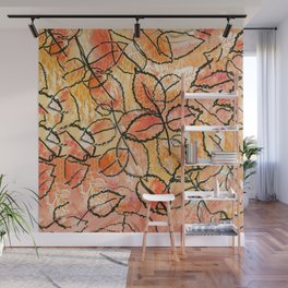 Grounded Leaves Wall Mural