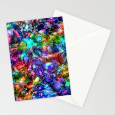 Blue Floral Abstract Stationery Cards