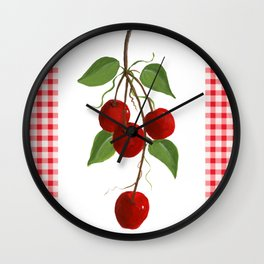 Country Cherries Wall Clock