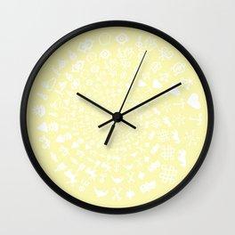 Chardonnay Love Symbol Mandala Wall Clock