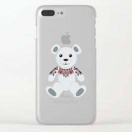 Haida tattooed teddy bear Clear iPhone Case