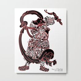Chinese zodiac sign, Year of the Rat Metal Print