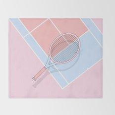 Hold my tennis racket Throw Blanket
