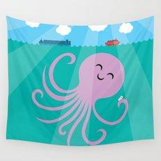 Octopus Selfie Wall Tapestry