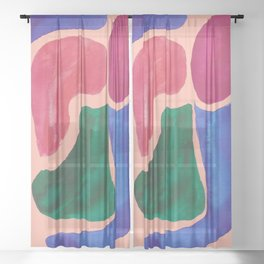 18     Imperfection   190325 Abstract Shapes Sheer Curtain