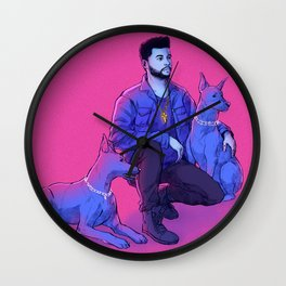 The Weeknd - Abel with Julius + Caesar Wall Clock