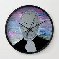 steve jobs Wall Clocks featuring Steve Jobs by Felix Zekveld
