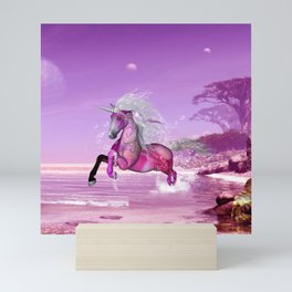 Wonderful unicorn Mini Art Print