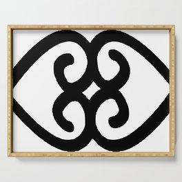 Asase Ye Duru Adinkra Symbol Serving Tray