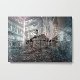 A Low Flying Panic Attack Metal Print