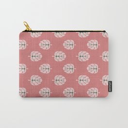 Tropical leaves Monstera deliciosa flaming pink #monstera #tropical #leaves #floral #homedecor Carry-All Pouch