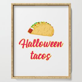Halloween Tacos Fiesta Motivational Design Serving Tray