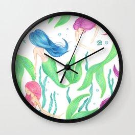 Mermaid Girl Gang Wall Clock