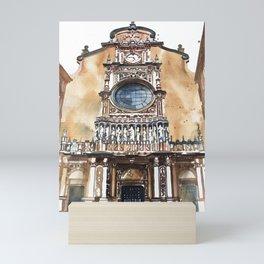 Santa Maria de Montserrat Abbey Mini Art Print