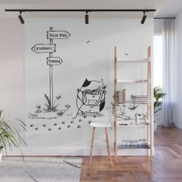 Cat Adventure Wall Mural