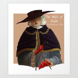 the wife of Bath Art Print