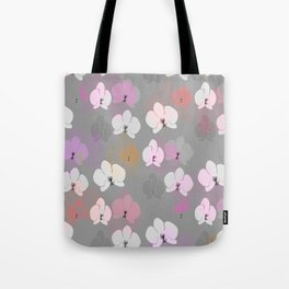 Grey Orchids Tote Bag