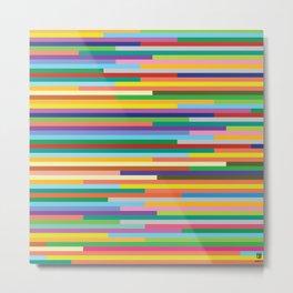 Colorful bars artistic design. beautiful background. Metal Print