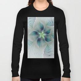 A Floral Fantasy, Abstract Fractal Art Long Sleeve T-shirt