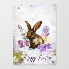 Lilac and Bunny Canvas Print