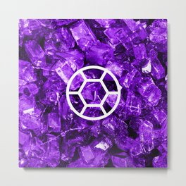 Amethyst Candy Gem Metal Print