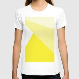 Simple Geometric Triangle Pattern - White on Yellow - Mix & Match with Simplicity of life T-shirt