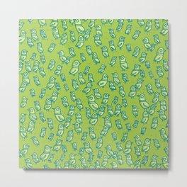 Rockwell Birds - Green Metal Print