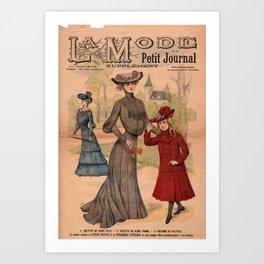 La Mode du Petit Journal March 8th 1903 Art Print