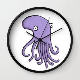 Purple Octopus Wall Clock