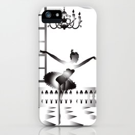 Swan Lake Shadow: Odile the Black Swan,  iPhone Case