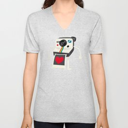 I Love Polaroid Unisex V-Neck