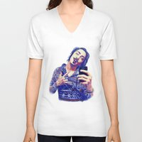 nick cave V-neck T-shirts featuring Nick by Mickt Flior