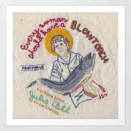 Julia Child, Patron Saint of Mise en Place Art Print