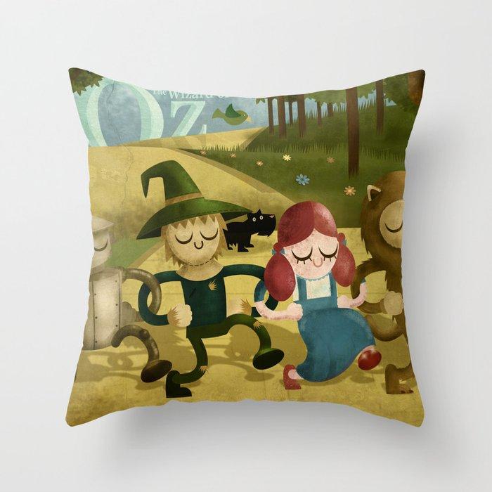 Wizard of Oz fan art Throw Pillow