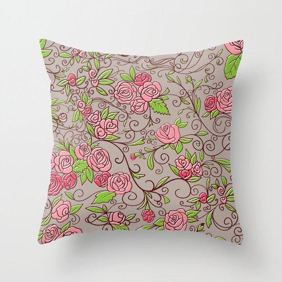 Floral  Throw Pillow