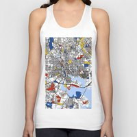 baltimore Tank Tops featuring Baltimore Mondrian by Mondrian Maps