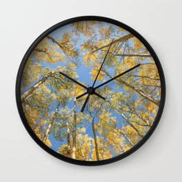 A Walk Among Aspens II Wall Clock