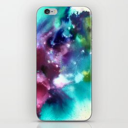 Abstract in Purple and Blue iPhone Skin
