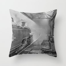 The Train Now Leaving .... Throw Pillow