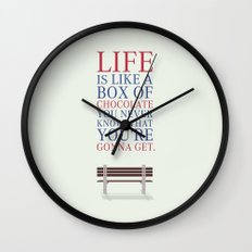 Lab No. 4 - Forrest Gump Movies Inspirational Quotes Poster Wall Clock