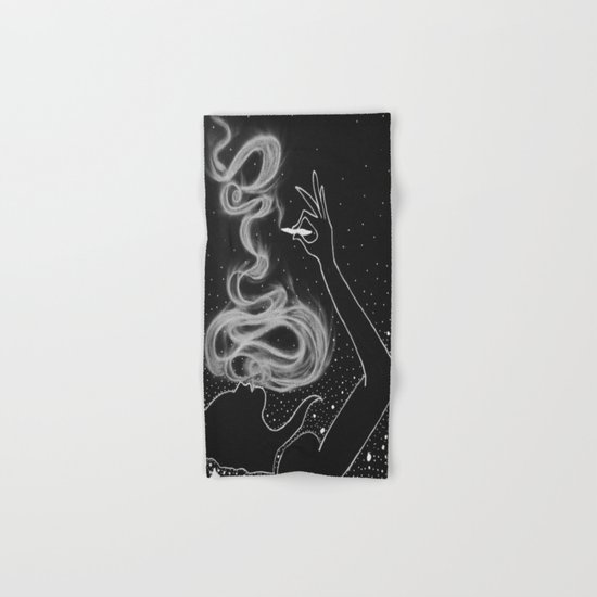 Midnight Toker (#3), Smoking Lady Series Hand & Bath Towel
