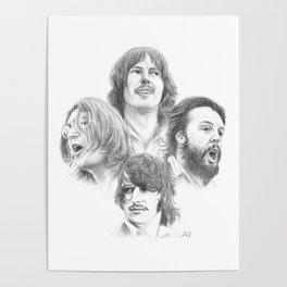 John, Paul, George & Ringo Poster