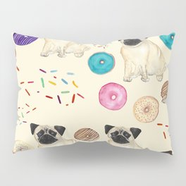 Pugs and donuts sweet sprinkles Pillow Sham