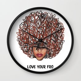 Love Your Fro Wall Clock