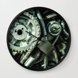 Machine Part BNW Abstract II Art Wall Clock